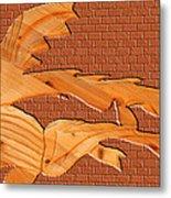 Up Against A Brick Wall Metal Print