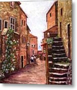 Up The Alley Metal Print