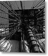 Up To The Crow's Nest - Monochrome Metal Print