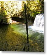Upper Butte Creek Falls And Plunge Pool Metal Print
