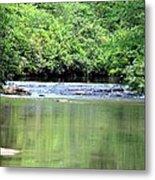 Upper Creek Reflections Metal Print