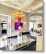 Upscale Dining Room Interior Metal Print