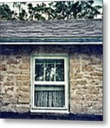 Upstairs Window In Stone House Metal Print