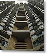 Upward View Of A Public Housing Metal Print by Justin Guariglia