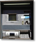 Urban Fabric . Automatic Teller Machine . 7d14178 Metal Print by Wingsdomain Art and Photography