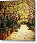 Urban Forest Primeval - Central Park Conservatory Garden In The Spring Metal Print by Vivienne Gucwa