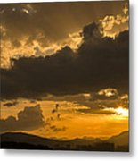 Urban Sunset Metal Print