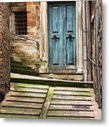 Urbino Door And Stairs Metal Print