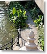 Urn And Pathway Metal Print