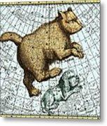 Ursa Major Constellation, Bode Star Atlas Metal Print by Detlev Van Ravenswaay