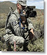 U.s. Air Force Sergeant Shoots Video Metal Print