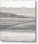 U.s. Alt-89 At Vermilion Cliffs Arizona Bw Metal Print
