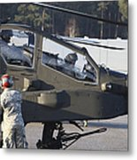 U.s. Army Ah-64d Apache Helicopter Metal Print