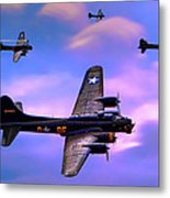 Us Army Air Corps B17g Flying Fortress Metal Print