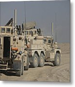 U.s. Army Cougar Mrap Vehicles Metal Print