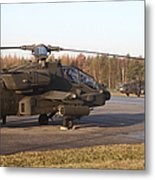 U.s. Army Helicopters At The Letzlingen Metal Print