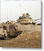 U.s. Army M2 Bradley Infantry Fighting Metal Print