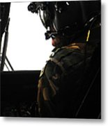 U.s. Army Officer Speaks To A Pilot Metal Print