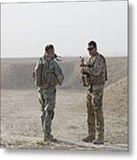 U.s. Army Soldier And German Soldier Metal Print