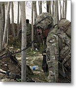 U.s. Army Soldier Communicates Possible Metal Print