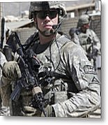 U.s. Army Soldier Conducts A Combat Metal Print