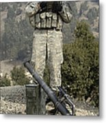 U.s. Army Soldier Gets Information Metal Print