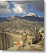U.s. Army Soldier Walks Down A Path Metal Print by Stocktrek Images
