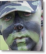 U.s. Army Soldier Wearing Camouflage Metal Print by Stocktrek Images