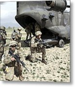 U.s. Army Soldiers Board A Ch-47 Metal Print