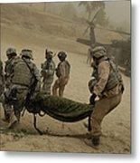 U.s. Army Soldiers Medically Evacuate Metal Print