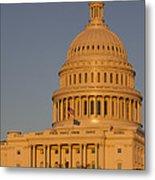 Us Capital Dome Sunset Glow Metal Print