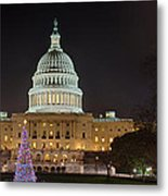U.s. Capitol Christmas Tree 2009 Metal Print by Metro DC Photography