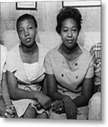 Us Civil Rights. From Left High School Metal Print