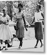 Us Civil Rights. From Left Integrated Metal Print