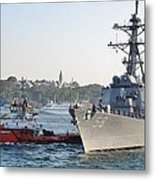 Us Cruiser Docking In Istanbul Metal Print