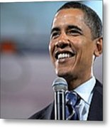 U.s. Democratic Presidential Candidate Metal Print by Everett