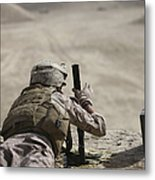 U.s. Marine Clears A Pk General-purpose Metal Print