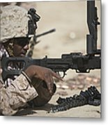 U.s. Marine Clears The Feed Tray Metal Print