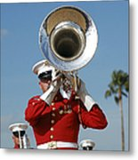 U.s. Marine Corps Drum And Bugle Corps Metal Print