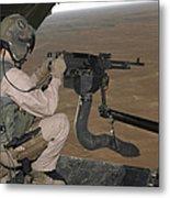 U.s. Marine Test Firing An M240 Heavy Metal Print