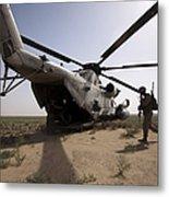 U.s. Marines Board A Ch-53d Sea Metal Print