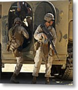 U.s. Marines Climb Into The Back Of An Metal Print