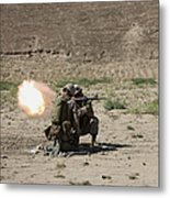 U.s. Marines Fire A Rocket-propelled Metal Print