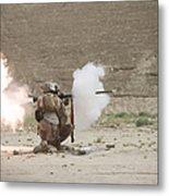 U.s. Marines Fire A Rpg-7 Grenade Metal Print