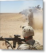 U.s. Marines Fire Several Metal Print