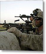 U.s. Marines Observe The Movement Metal Print by Stocktrek Images