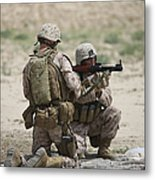 U.s. Marines Prepare A Fragmentation Metal Print