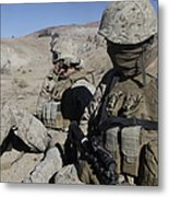 U.s. Marines Take A Break Metal Print