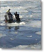 U.s. Navy Diver Signals He Is Okay Metal Print