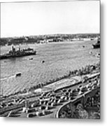 U.s. Navy In The Hudson River Metal Print